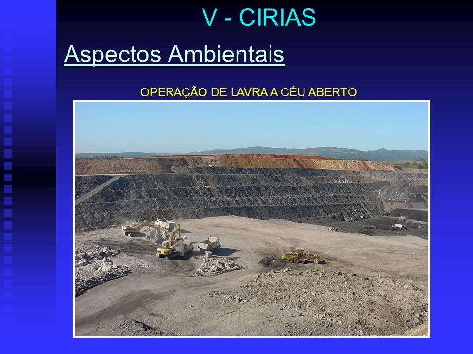 Aspectos Ambientais V - CIRIAS OPERAÇÃO DE LAVRA A CÉU ABERTO