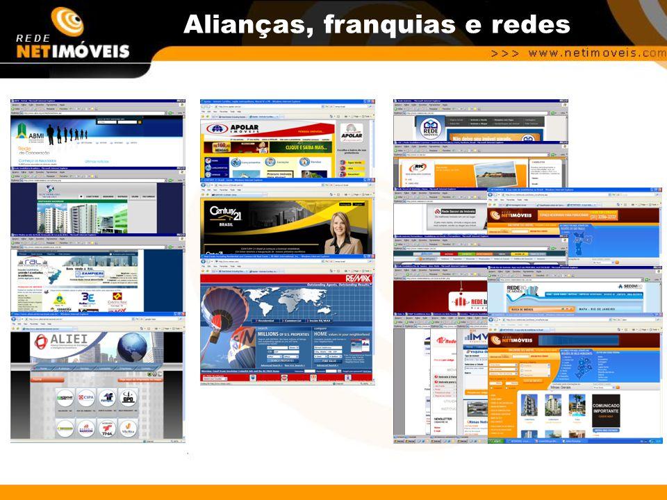 Alianças estratégicas Alianças, franquias e redes R E D E