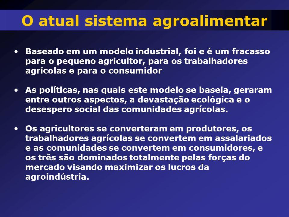 Baseado em um modelo industrial, foi e é um fracasso para o pequeno agricultor, para os trabalhadores agrícolas e para o consumidor As políticas, nas