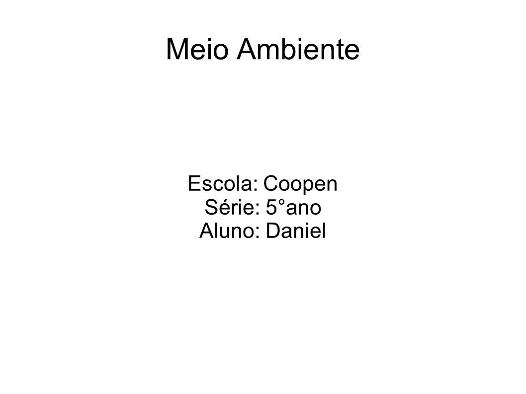 Meio Ambiente Escola: Coopen Série: 5°ano Aluno: Daniel