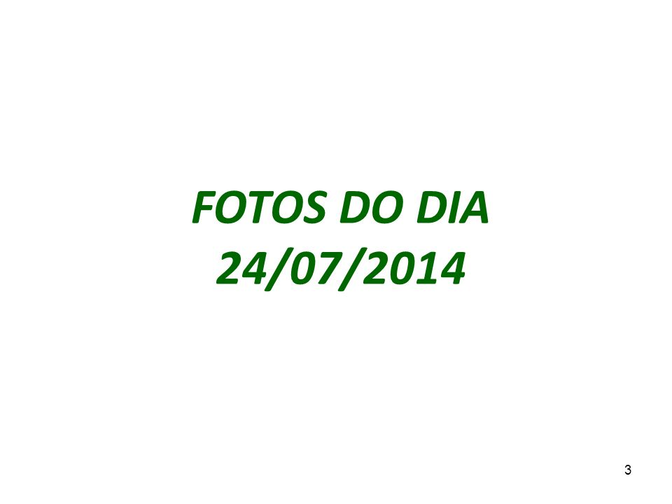 3 FOTOS DO DIA 24/07/2014