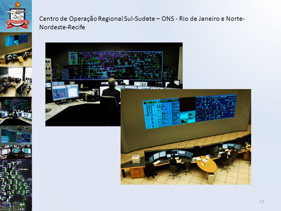 11 Centro de Operação Regional Sul-Sudete – ONS - Rio de Janeiro e Norte- Nordeste-Recife