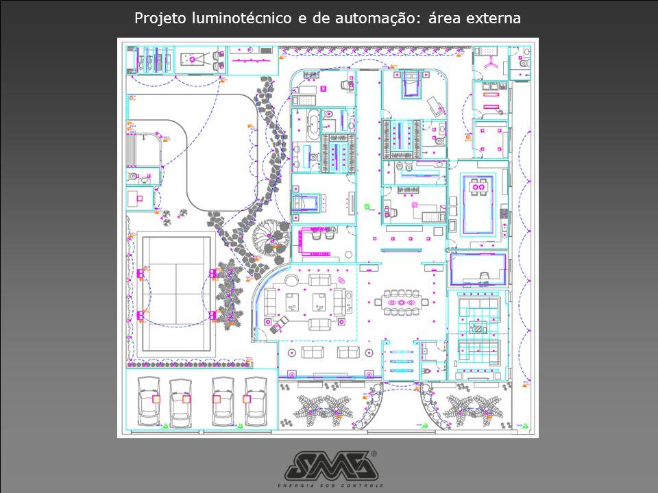 Projeto luminotécnico e de automação: área externa
