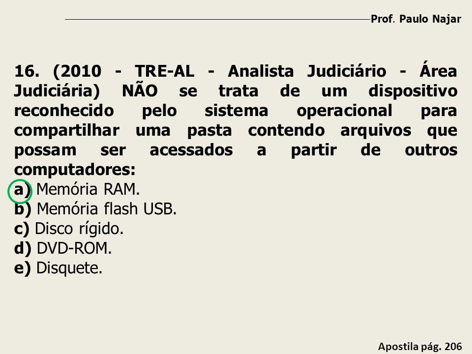 Prof. Paulo Najar Apostila pág. 206 16. (2010 - TRE-AL - Analista Judiciário - Área Judiciária) NÃO se trata de um dispositivo reconhecido pelo sistem