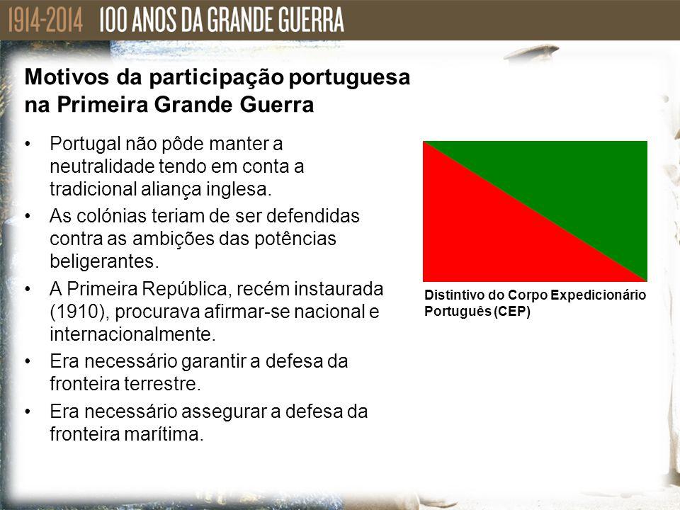 Portugal não pôde manter a neutralidade tendo em conta a tradicional aliança inglesa. As colónias teriam de ser defendidas contra as ambições das potê