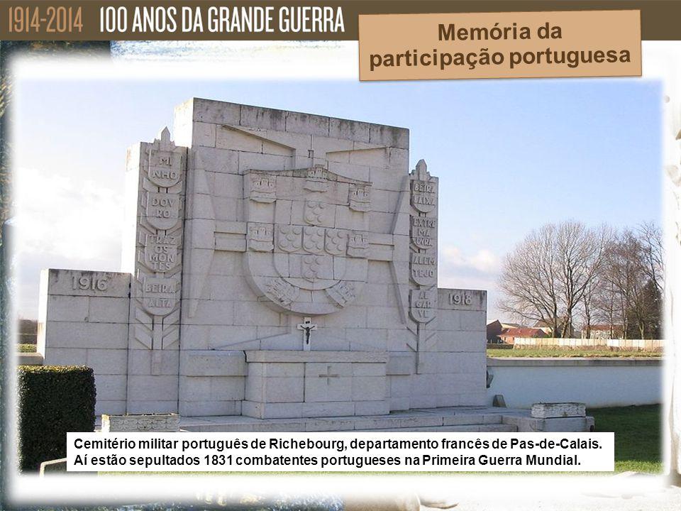 Cemitério militar português de Richebourg, departamento francês de Pas-de-Calais. Aí estão sepultados 1831 combatentes portugueses na Primeira Guerra