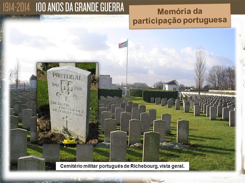 Cemitério militar português de Richebourg, vista geral. Memória da participação portuguesa