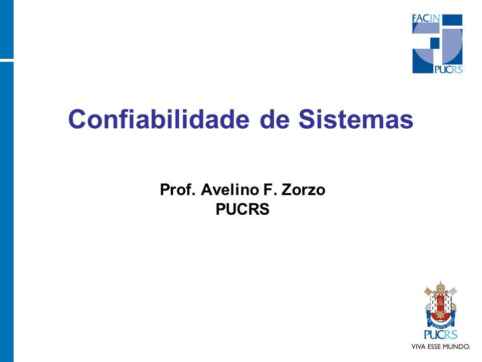 Confiabilidade de Sistemas Prof. Avelino F. Zorzo PUCRS