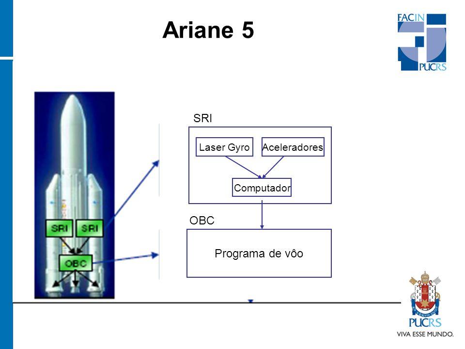 Ariane 5 Programa de vôo Laser GyroAceleradores Computador OBC SRI