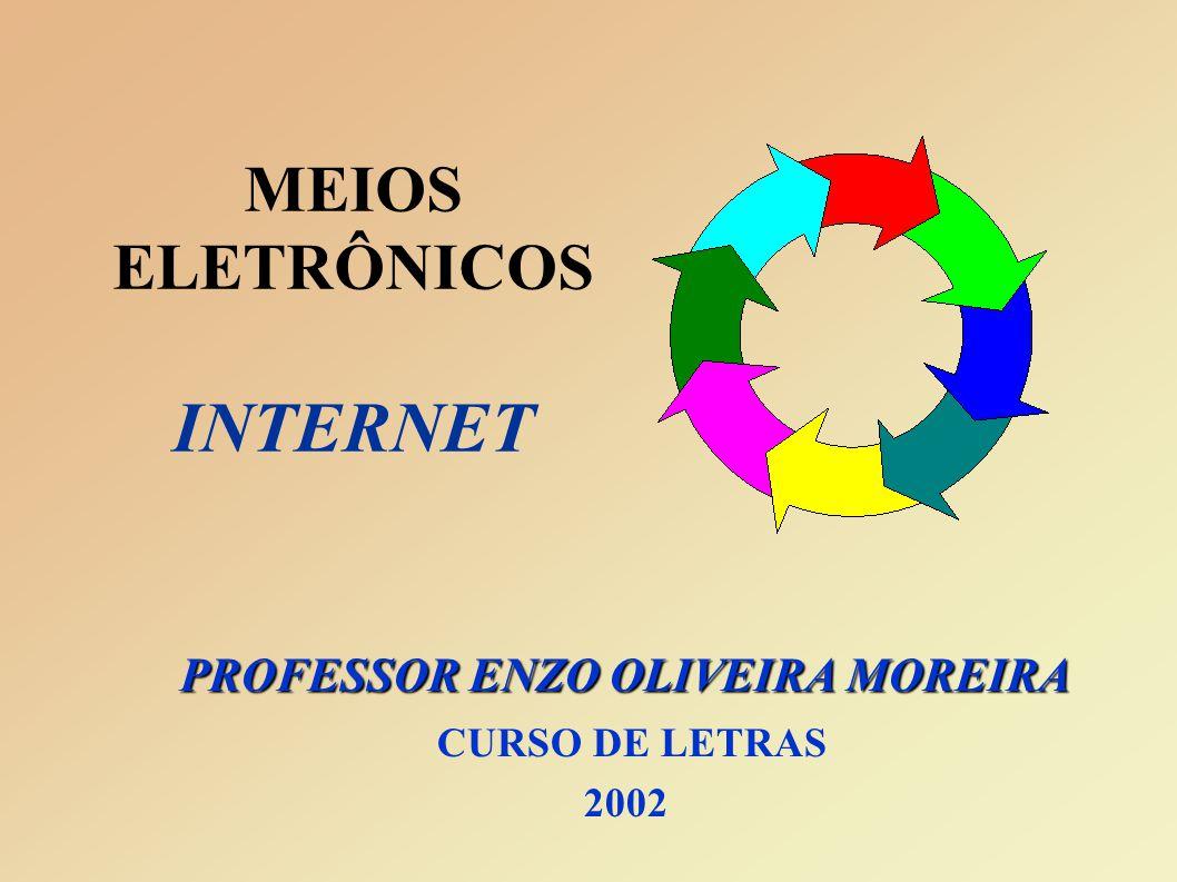 MEIOS ELETRÔNICOS INTERNET PROFESSOR ENZO OLIVEIRA MOREIRA CURSO DE LETRAS 2002