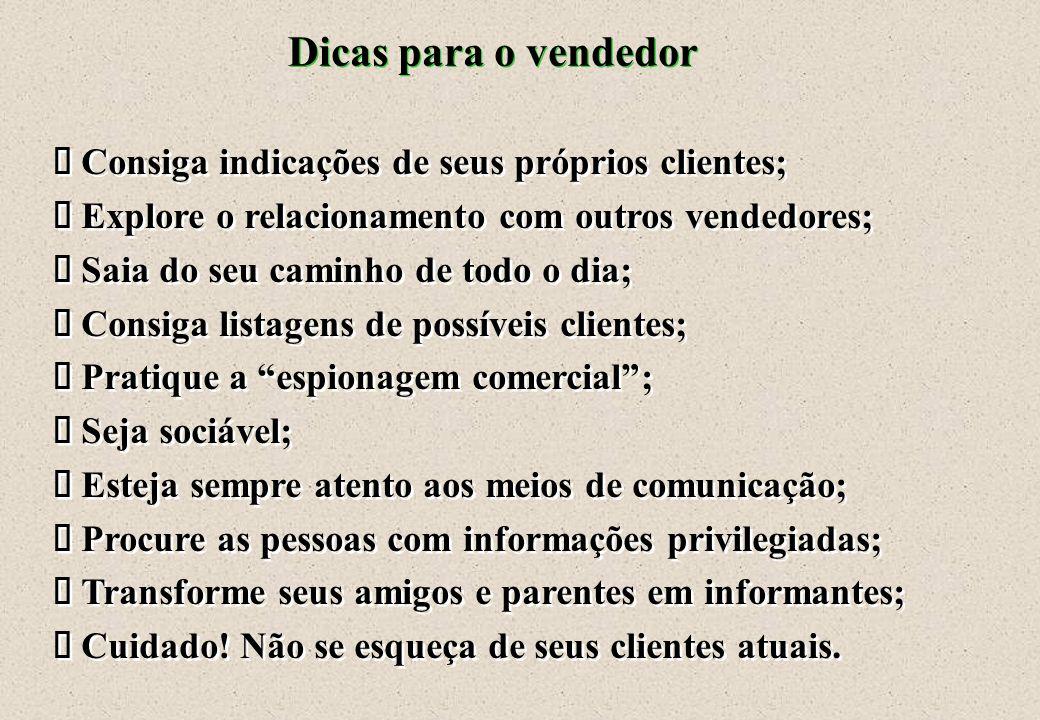 Dicas para a venda Venda o cliente que há em você; ä Venda o cliente que há em você; ä Lembre-se de que o processo de comunicação é bidirecional; comu