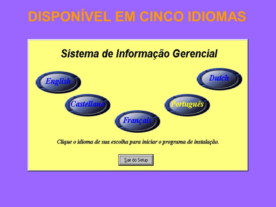 DISPONÍVEL EM CINCO IDIOMAS