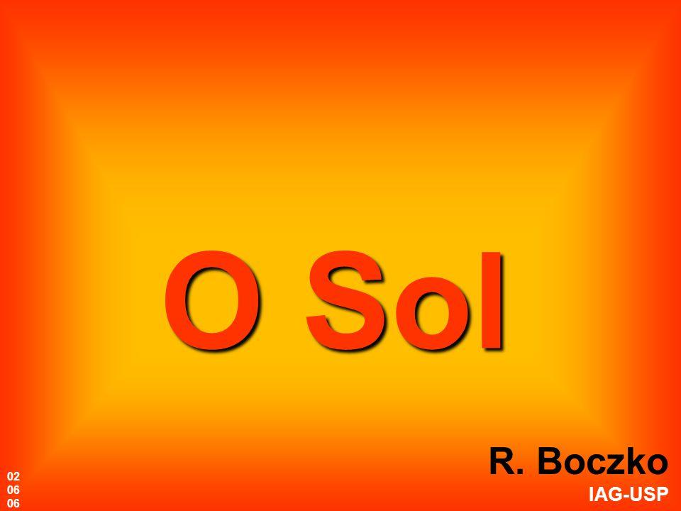 Geração de energia no Sol 01,00,40,60,80,20,90,30,50,70,1 R/R sol Superfície Centro 5 dL / dr (10 23 erg/s/cm) 4 3 2 1 0