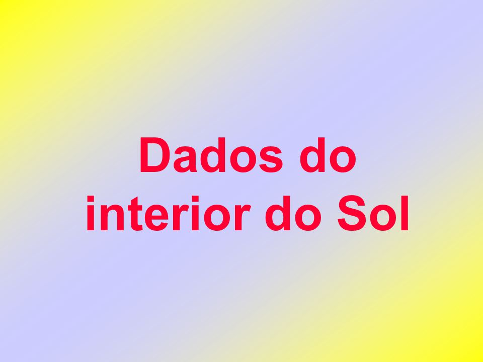 Dados do interior do Sol