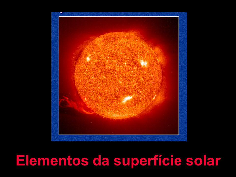 Elementos da superfície solar