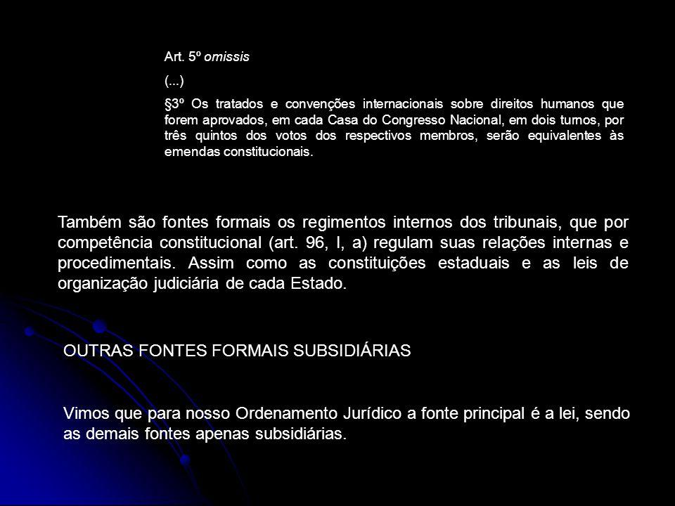 Art. 5º omissis (...) §3º Os tratados e convenções internacionais sobre direitos humanos que forem aprovados, em cada Casa do Congresso Nacional, em d