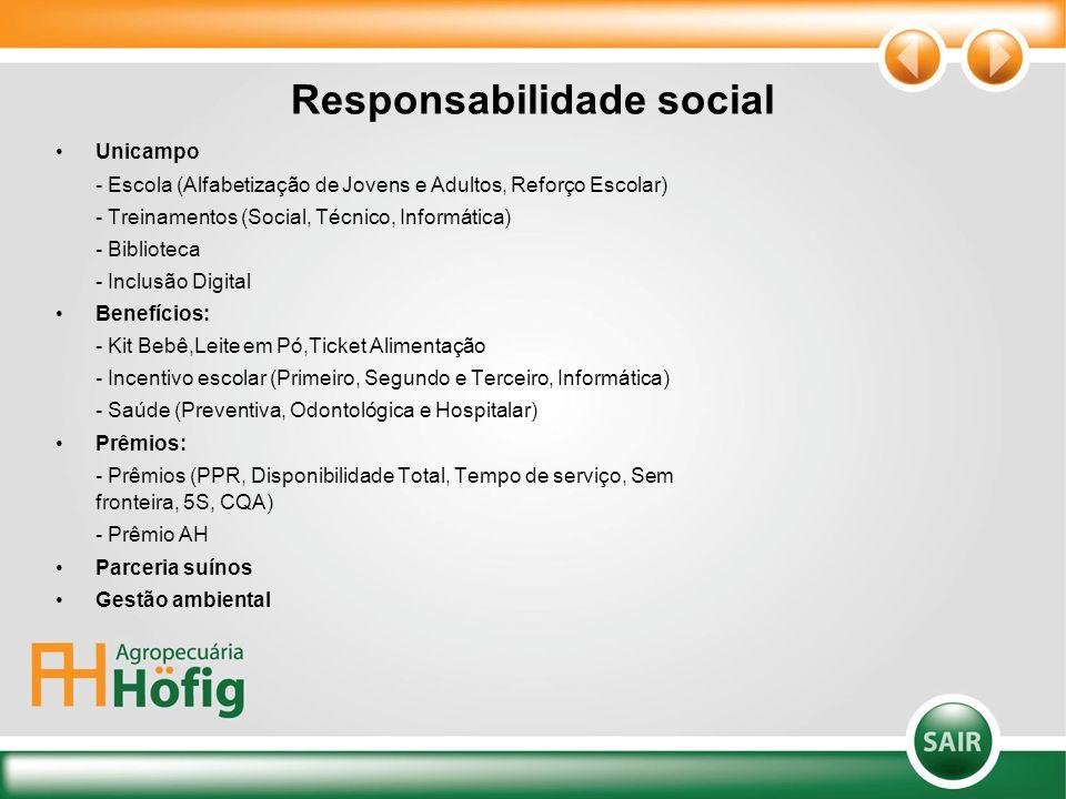 Responsabilidade social Unicampo - Escola (Alfabetização de Jovens e Adultos, Reforço Escolar) - Treinamentos (Social, Técnico, Informática) - Bibliot