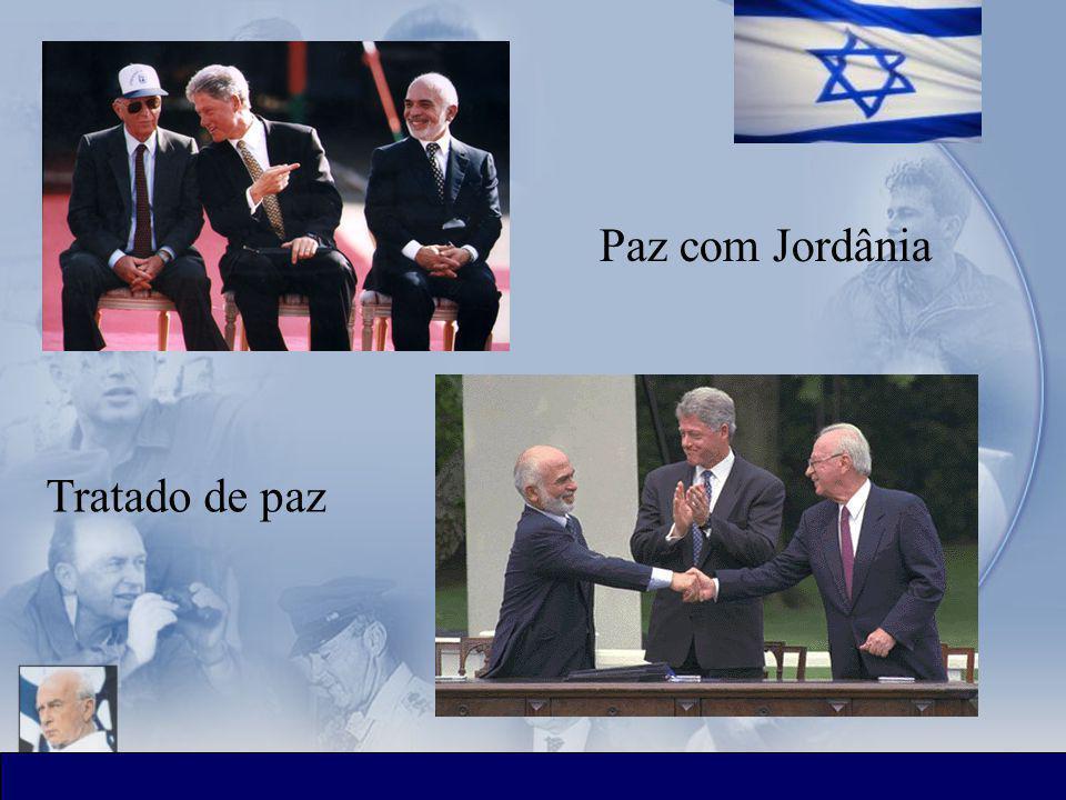 ציר הזמן Tratado de paz Paz com Jordânia
