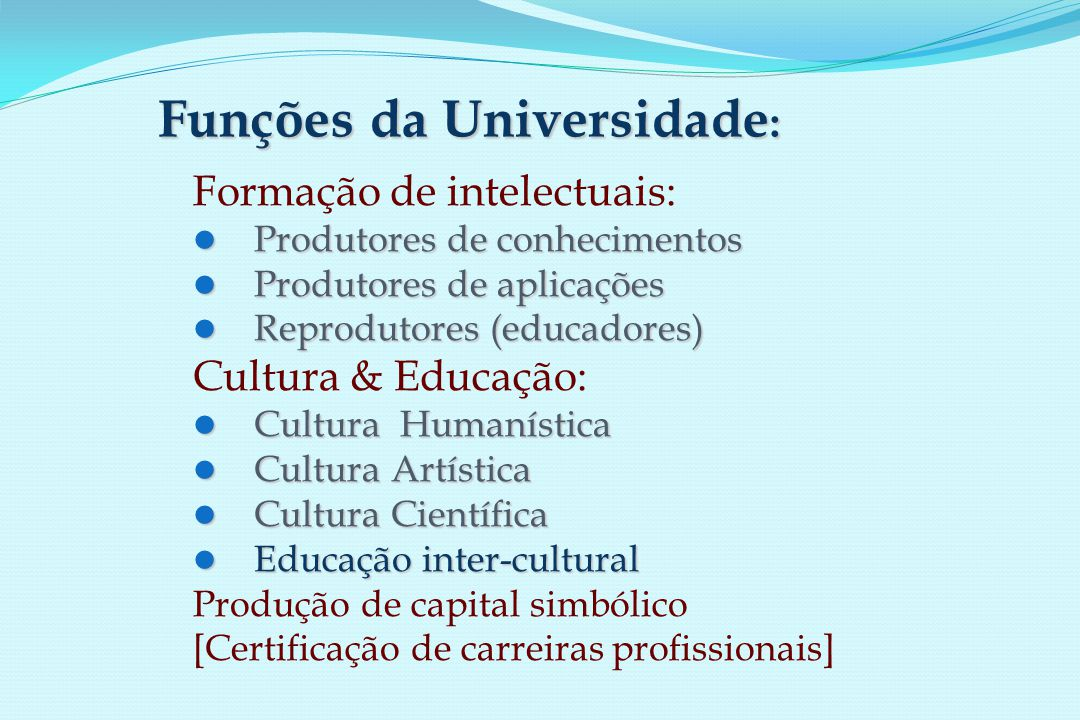 Formação pré-graduada: Formação pré-graduada: Licenciatura em Ciências da Saúde (1.º ciclo de 3 anos) organizada conjuntamente pelas Faculdades de Ciências, Medicina, Medicina Dentária, Farmácia e Psicologia.