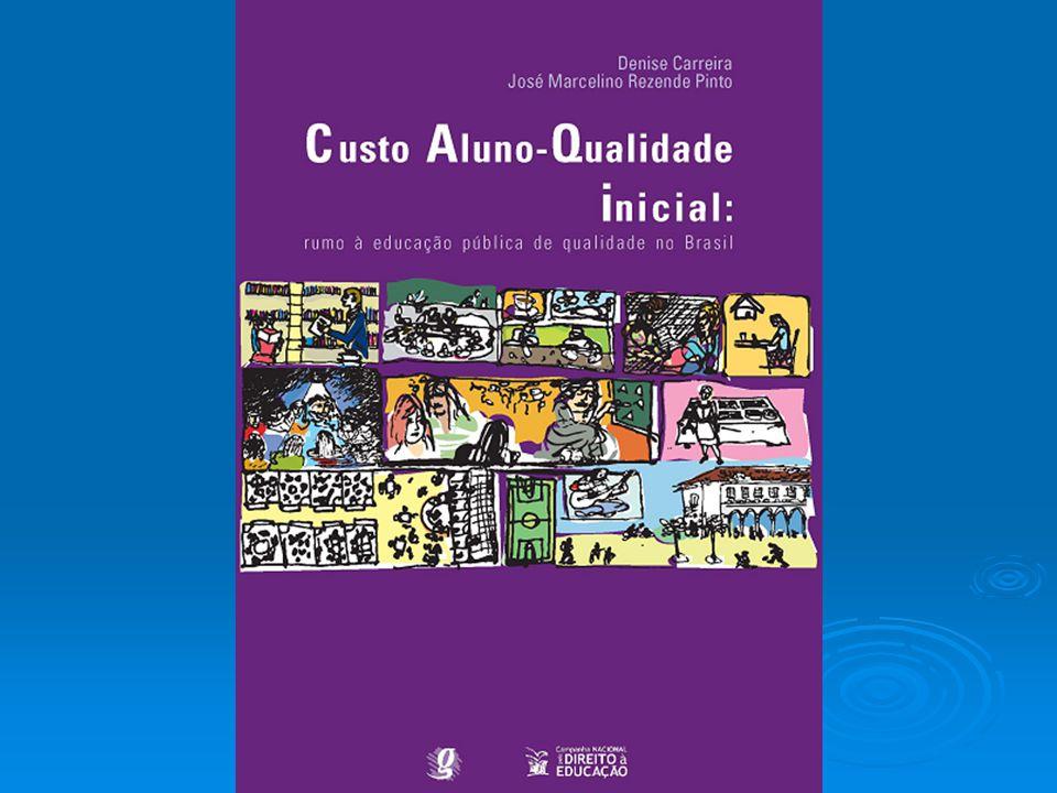  O Custo Aluno-Qualidade Inicial (CAQi) é um estudo desenvolvido ao longo de três anos pela Campanha Nacional pelo Direito à Educação, com a colaboração de especialistas de universidades e institutos de pesquisa.