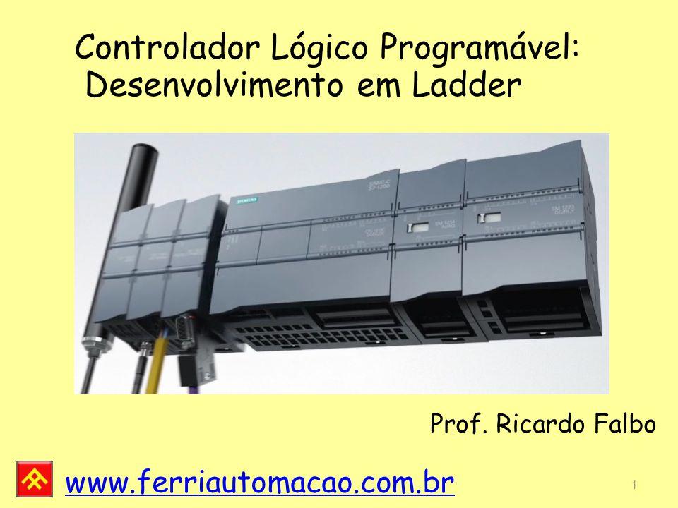 www.ferriautomacao.com.br Modo STOP: o programa em execução é interrompido para que se possa realizar alguma alteração.