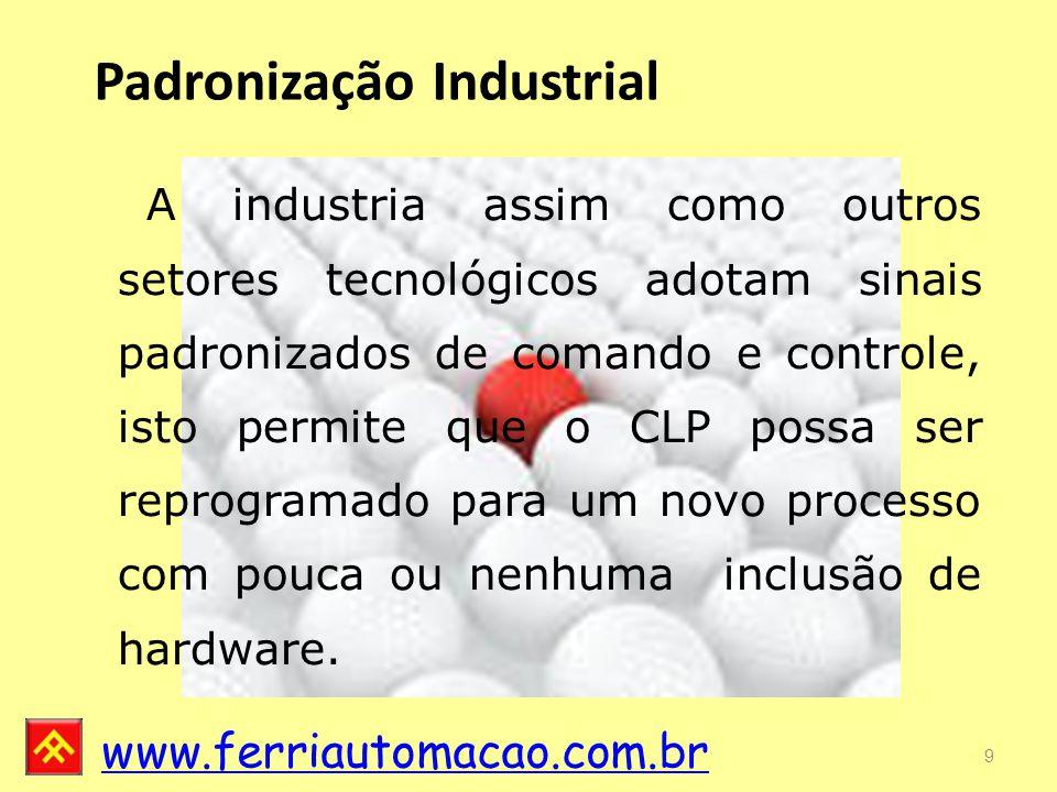 www.ferriautomacao.com.br Existem diferentes área de memória ou variáveis que podem ser utilizadas no programa de acordo com a necessidade, o escopo e a configuração do hardware.