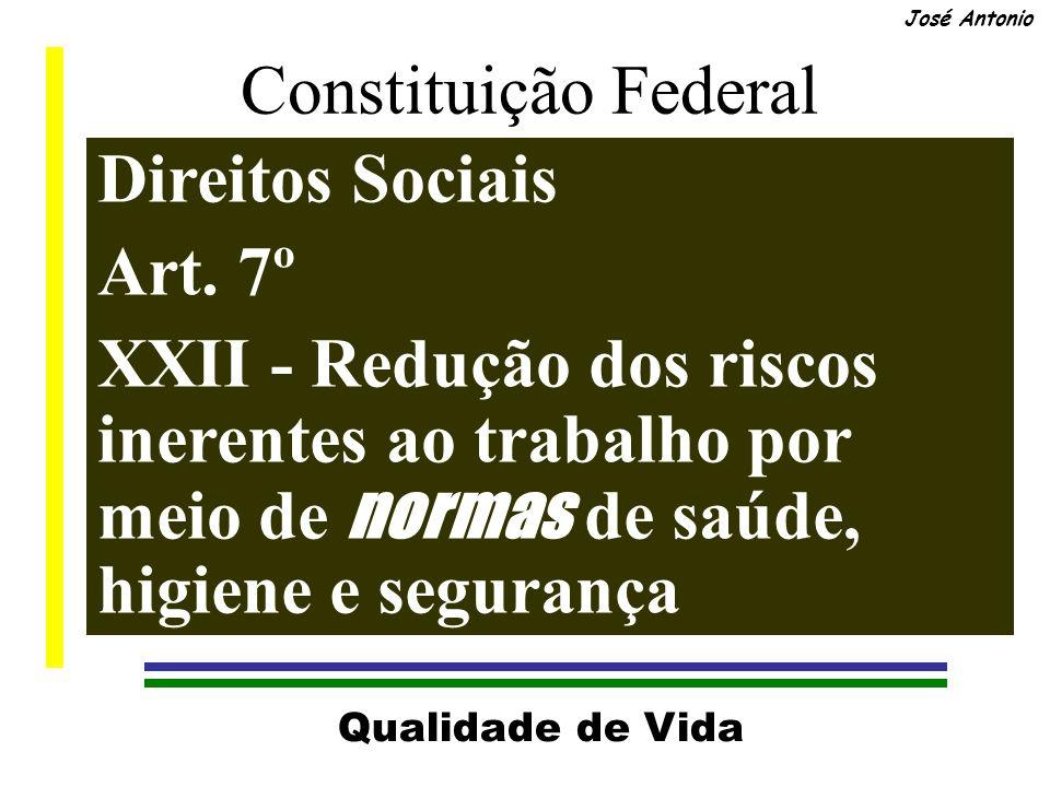 Qualidade de Vida José Antonio Constituição Federal Direitos Sociais Art.