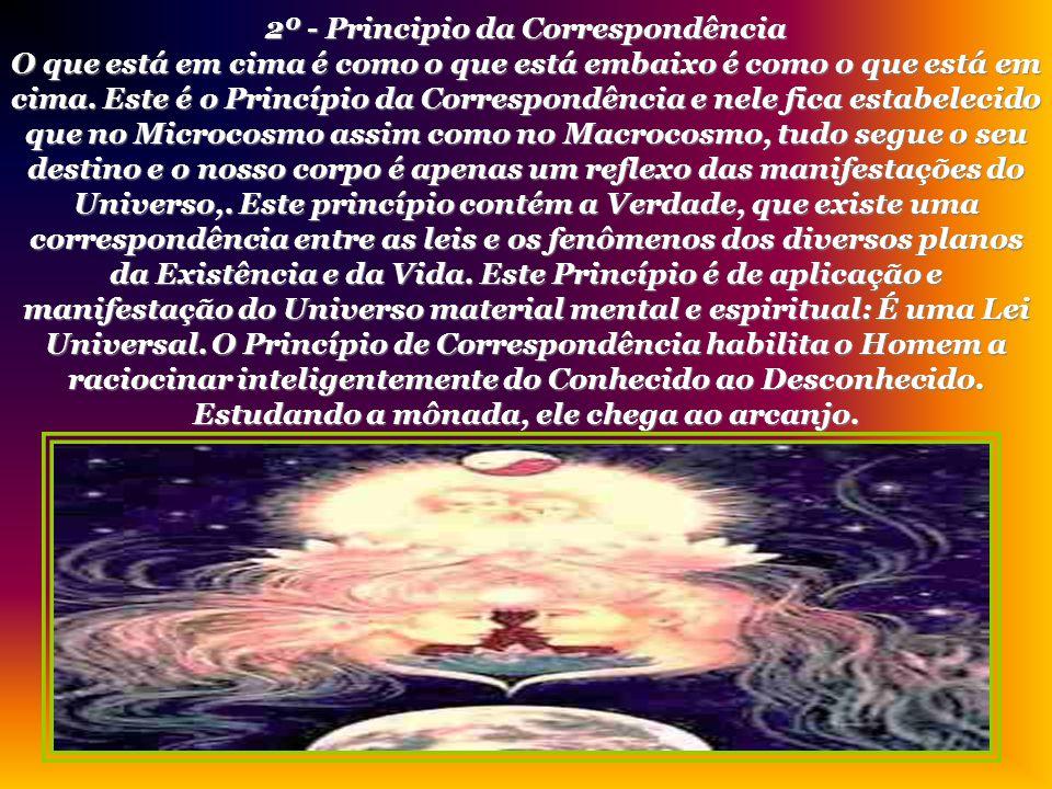 1º - Principio do Mentalismo Sob as aparências de Universo, de Tempo, de Espaço e de Mobilidade está sempre encoberta a Realidade Substancial - a Verd