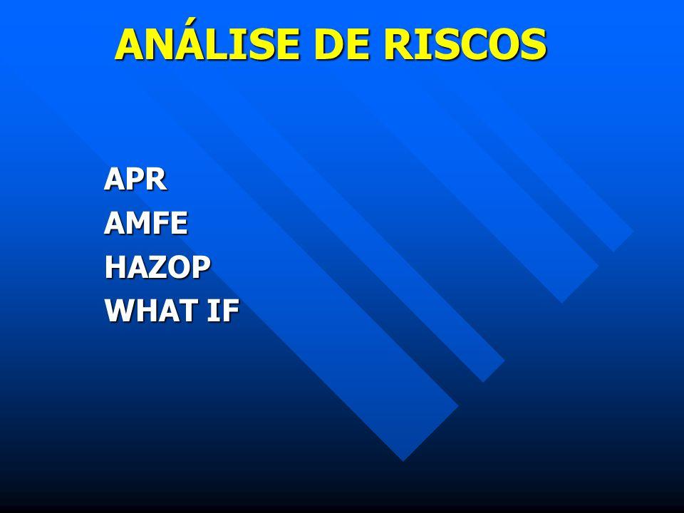 ANÁLISE DE RISCOS APRAMFEHAZOP WHAT IF