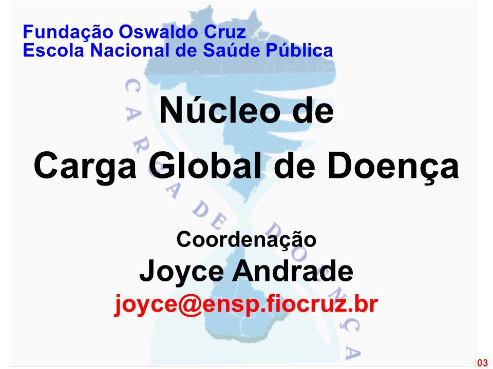 1 de 103 Fundação Oswaldo Cruz Escola Nacional de Saúde Pública Núcleo de Carga Global de Doença Coordenação Joyce Andrade joyce@ensp.fiocruz.br