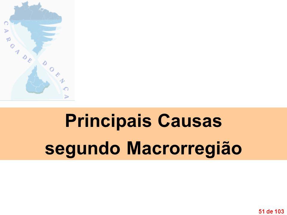 51 de 103 Principais Causas segundo Macrorregião