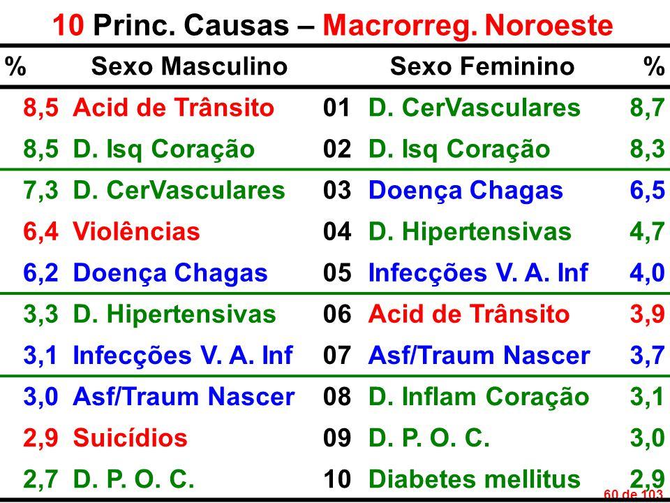 60 de 103 10 Princ. Causas – Macrorreg.