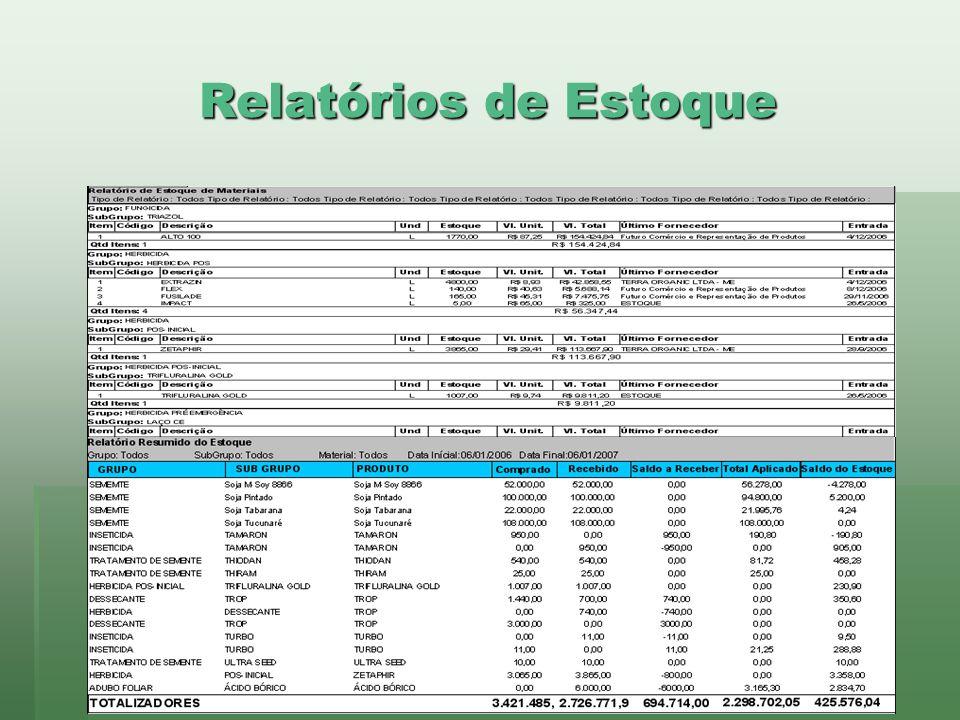 www.brazsoft.com.br (65) 3023 9013 Relatórios de Estoque