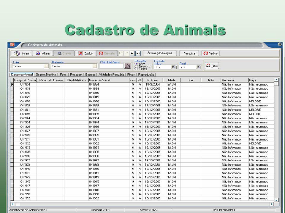 www.brazsoft.com.br (65) 3023 9013 Cadastro de Animais