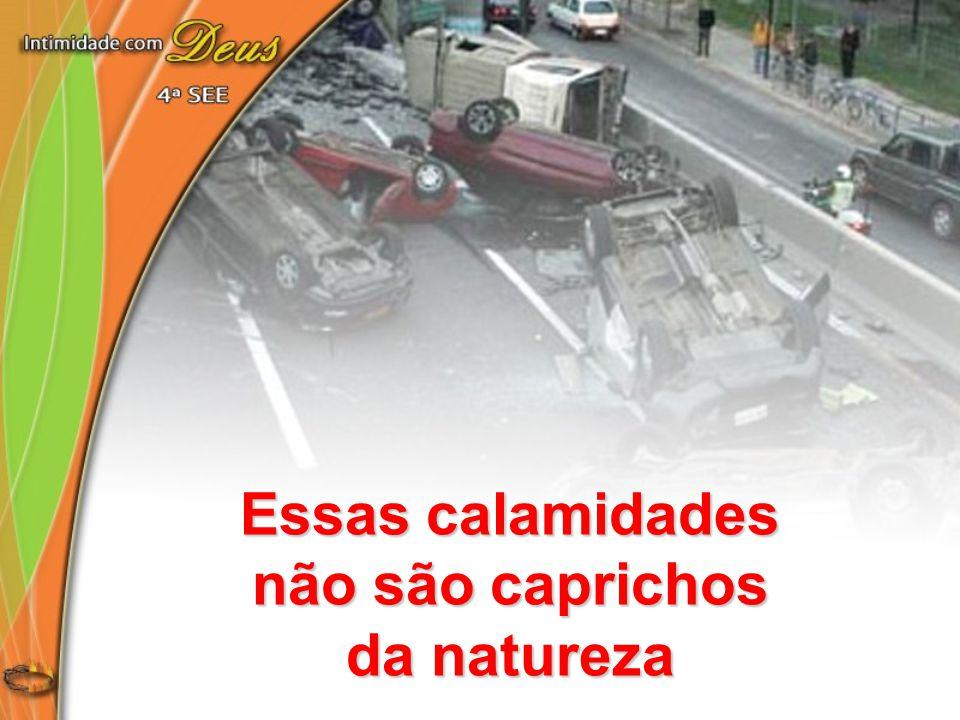 Essas calamidades não são caprichos da natureza
