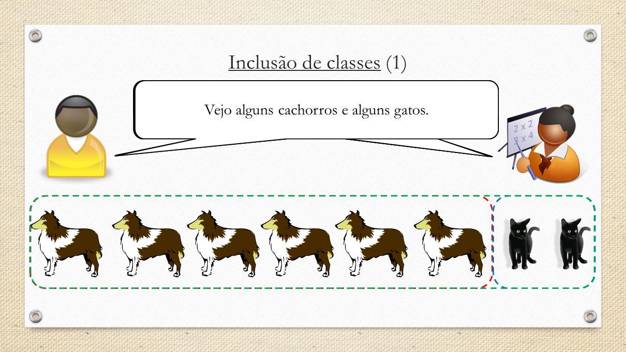Inclusão de classes (1) O que é que você vê na figura abaixo?Mostre-me todos os cachorros.Agora mostre-me todos os gatos. Finalmente mostre-me todos o