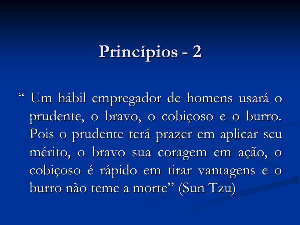 """Princípios - 2 """" Um hábil empregador de homens usará o prudente, o bravo, o cobiçoso e o burro. Pois o prudente terá prazer em aplicar seu mérito, o b"""