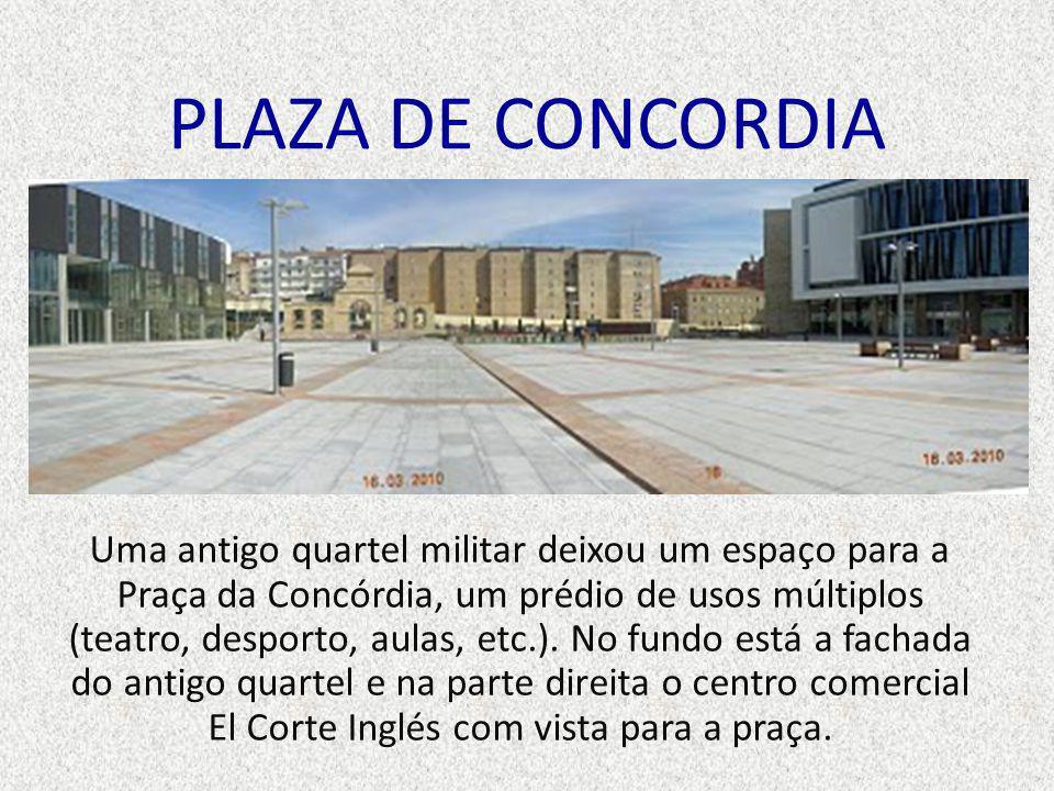 PLAZA DE CONCORDIA Uma antigo quartel militar deixou um espaço para a Praça da Concórdia, um prédio de usos múltiplos (teatro, desporto, aulas, etc.).