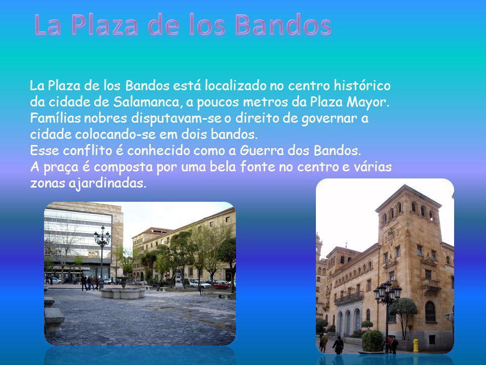 La Plaza de los Bandos está localizado no centro histórico da cidade de Salamanca, a poucos metros da Plaza Mayor. Famílias nobres disputavam-se o dir