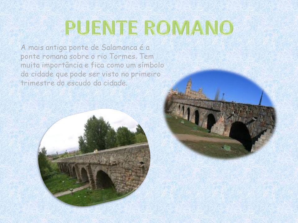 A mais antiga ponte de Salamanca é a ponte romana sobre o rio Tormes. Tem muita importância e fica como um símbolo da cidade que pode ser visto no pri