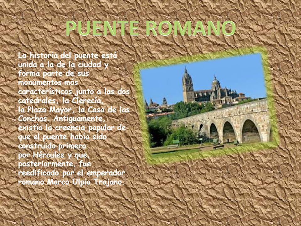 La historia del puente está unida a la de la ciudad y forma parte de sus monumentos más característicos junto a las dos catedrales, la Clerecía, la Pl