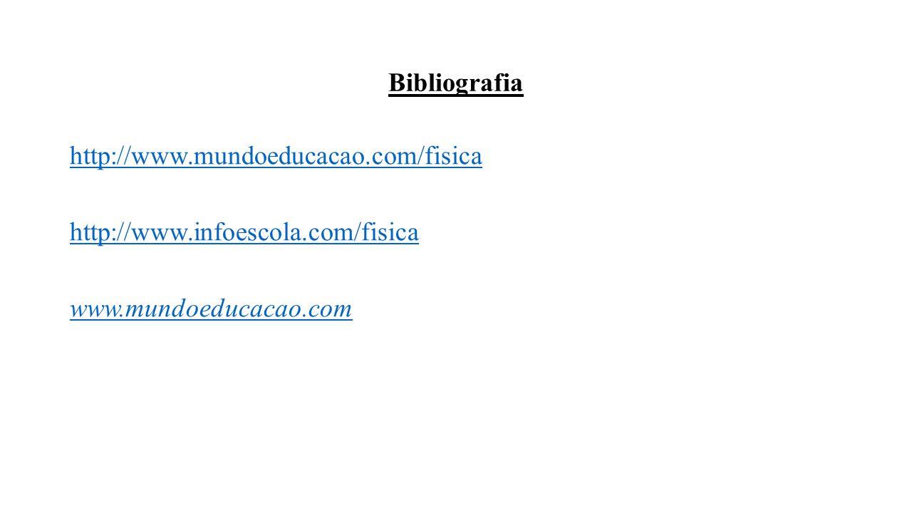 Bibliografia http://www.mundoeducacao.com/fisica http://www.infoescola.com/fisica www.mundoeducacao.com