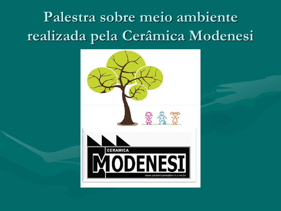 Palestra sobre meio ambiente realizada pela Cerâmica Modenesi