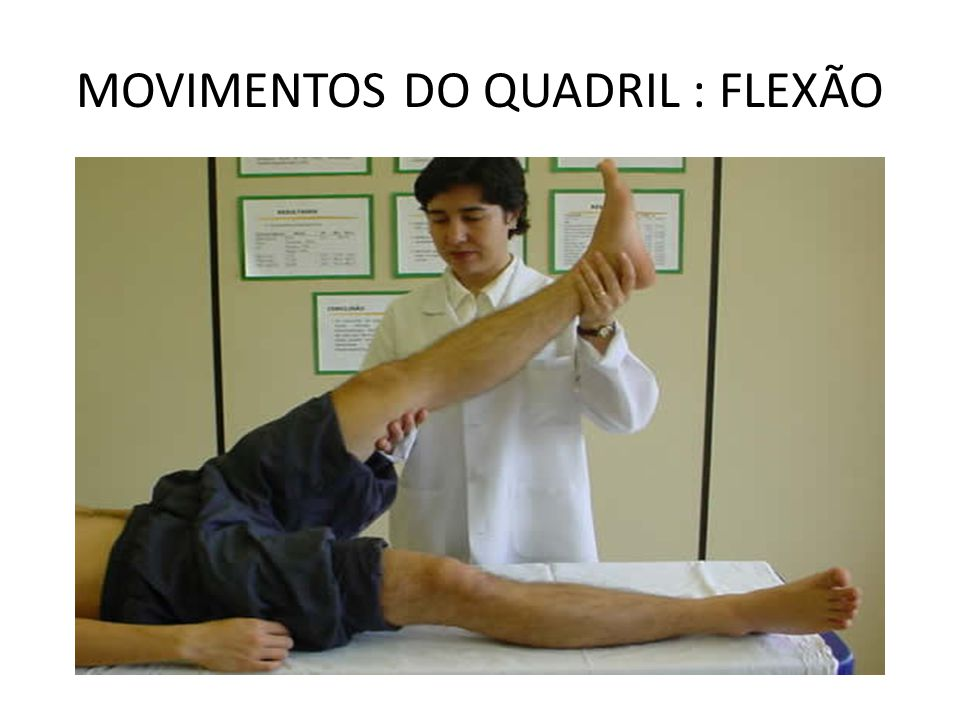 MOVIMENTOS DO QUADRIL : FLEXÃO