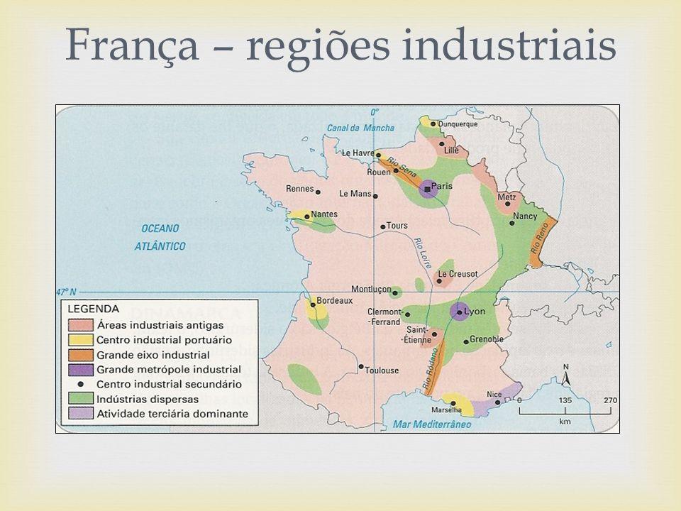 França – regiões industriais
