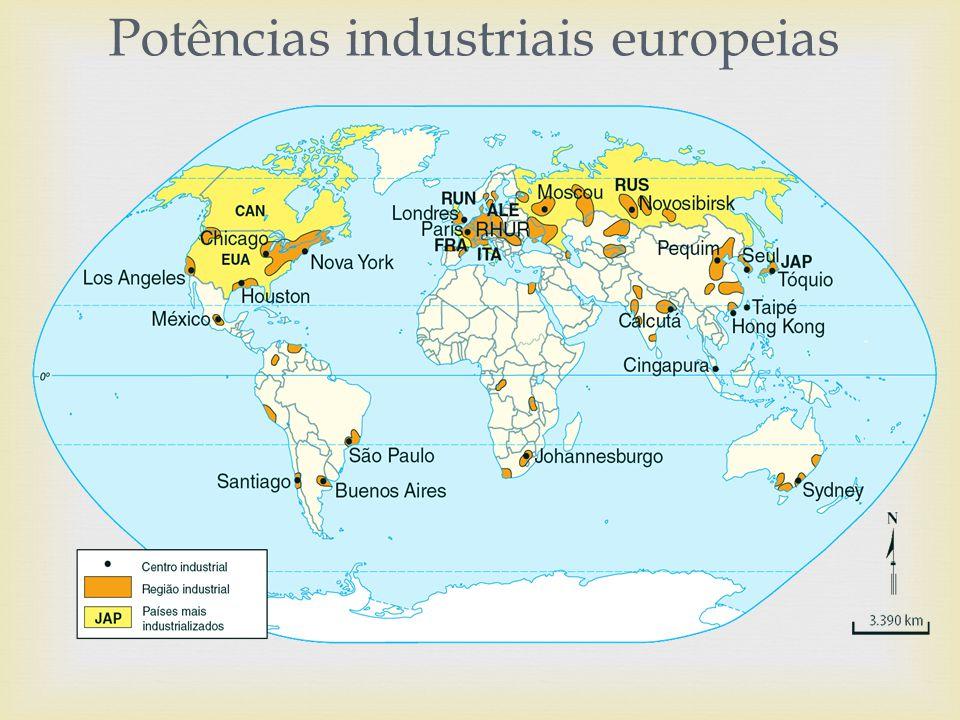 França : segundo país do continente a se industrializar.