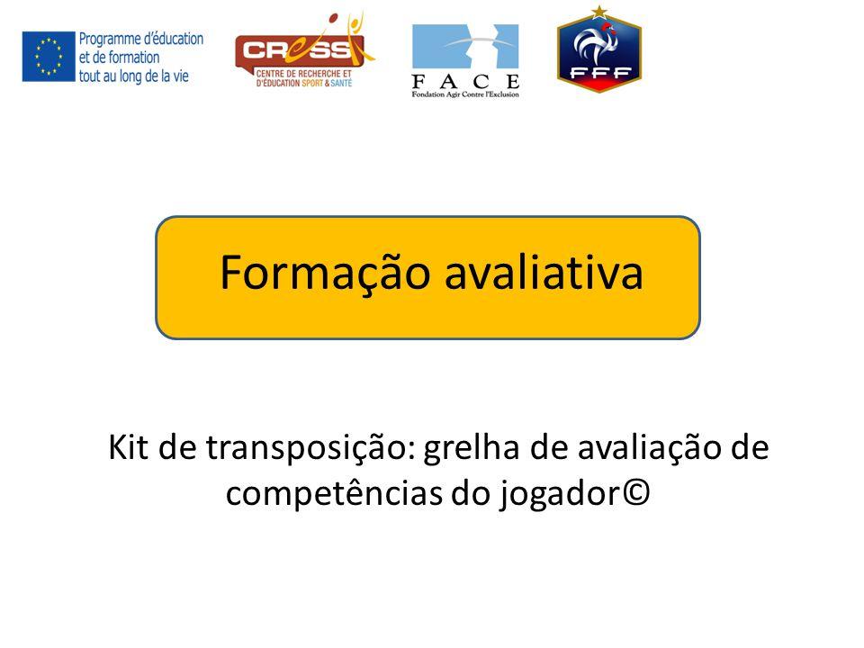 Formação avaliativa Kit de transposição: grelha de avaliação de competências do jogador©