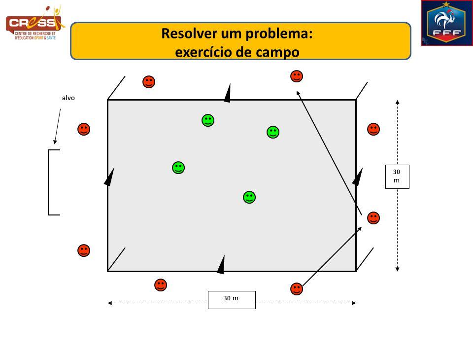 30 m alvo Resolver um problema: exercício de campo