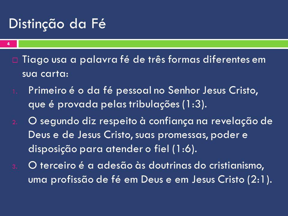 Distinção da Fé  A fé subjetiva é aquela que diz a respeito do nosso crer.