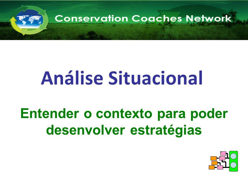 Análise Situacional Rede de Treinadores em Conservação Capacitando Novos Treinadores Entender o contexto para poder desenvolver estratégias